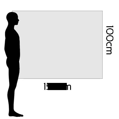 H 100cm x W 150cm
