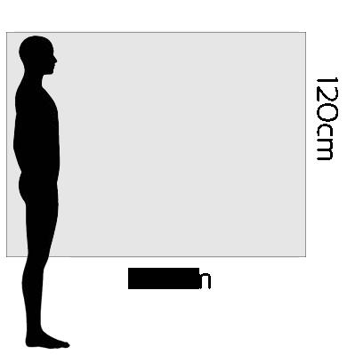 H 120cm x W 180cm