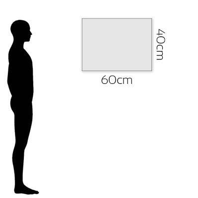 H 40cm x W 60cm