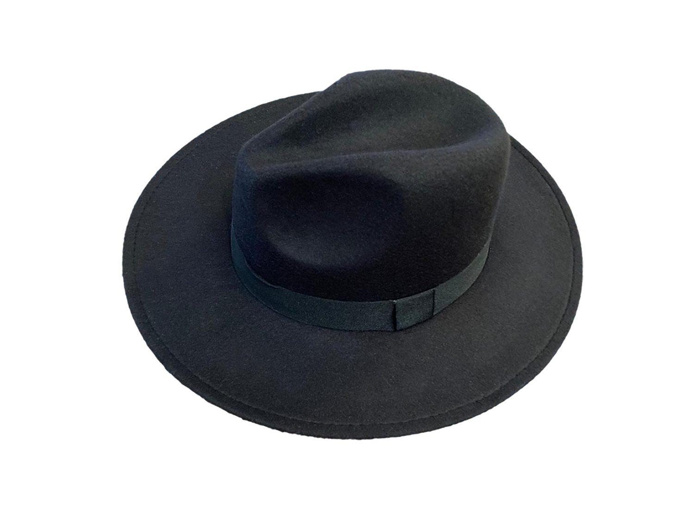 Panama Hat black - 𝗣𝗮𝗷𝗮 𝗧𝗼𝗾𝘂𝗶l𝗹𝗮
