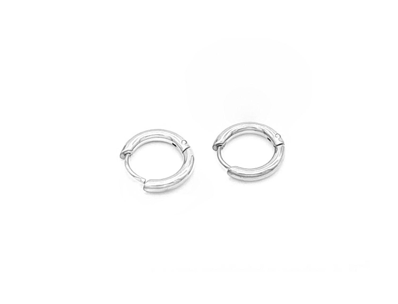 Small Hoop Earrings Silver Plated - Adema