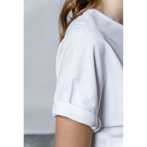 The Easy Crop Top- White - 4tailors