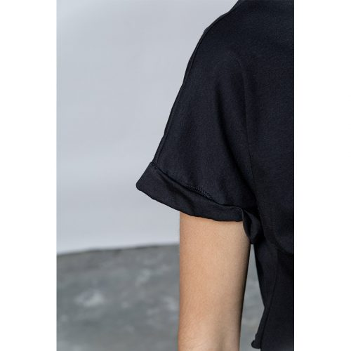 The Easy Crop Top-BLACK - 4tailors