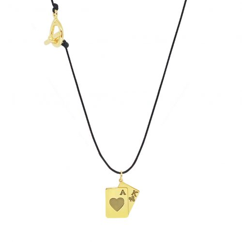 """Lucky Charm  """"Black Jack"""" - Gold Plated"""