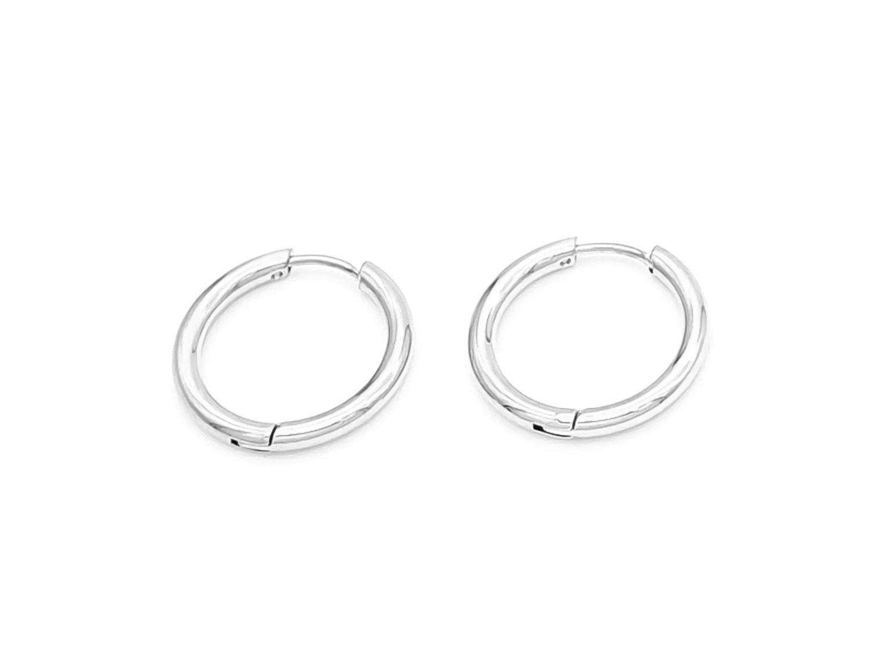 Slim Hoop Earrings Silver Plated 2CM - Adema