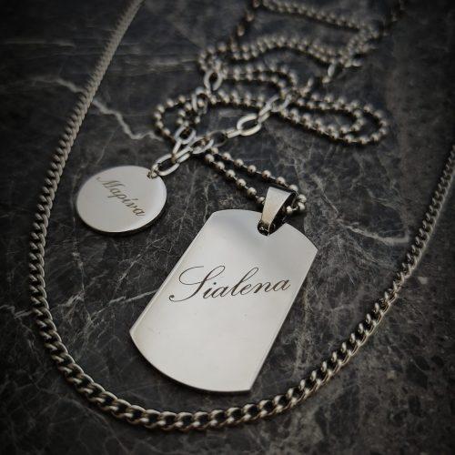 Custom Metal Tag Silver Plated - Adema