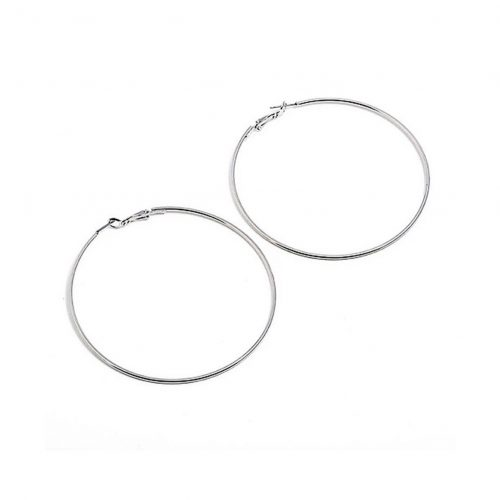 Hoop Round Shape Earrings Silver - ADEMA