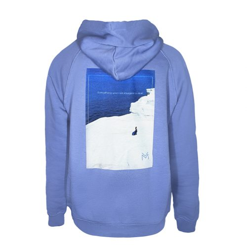 Everything you can imagine is real - Blue Hoodie