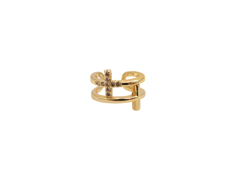 Gold Plated Diamond Earcuff - Adema