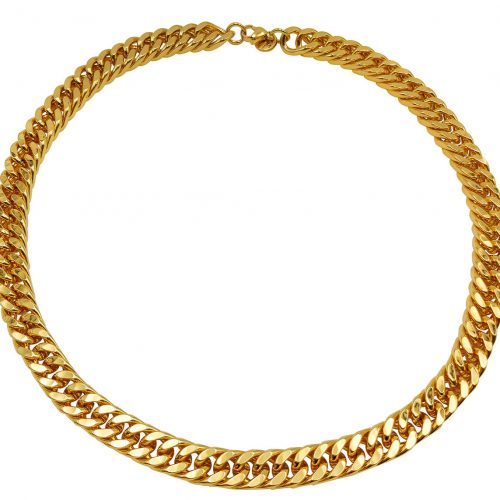 Gold Plated Flat Chain - Adema