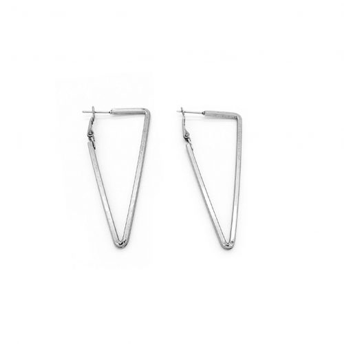 Triangle Earrings Silver Plated - Adema