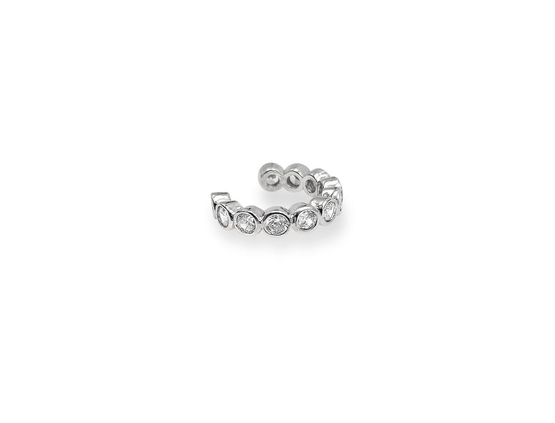 Diamond Earcuff Silver Plated - Adema