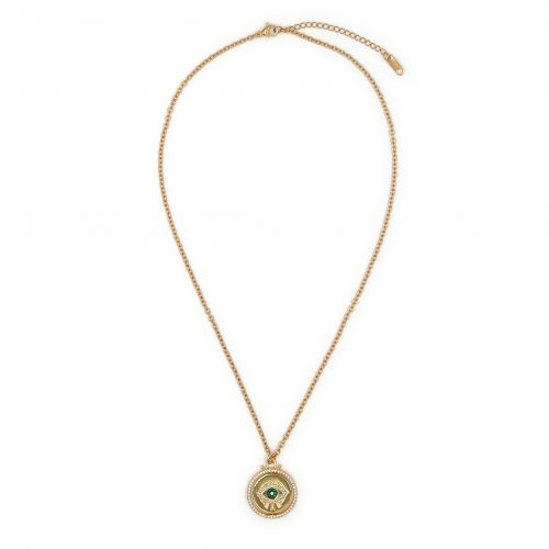Coin Eye Necklace Gold Plated - Adema