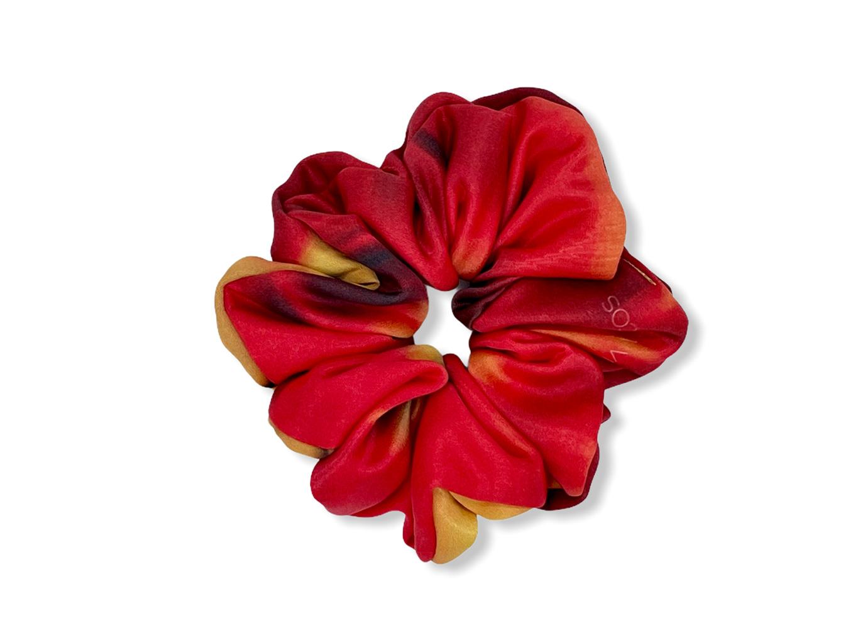Scrunchie - Red Rainbow
