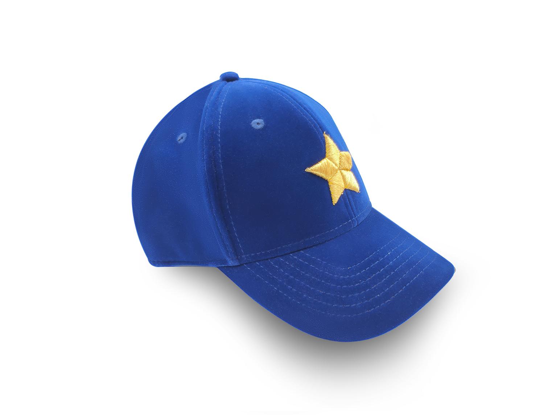 Blue velvet baseball cap marina vernicos collection