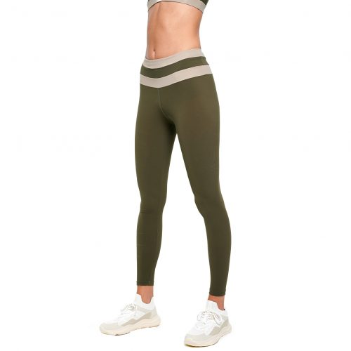 FUNCTION Two-Tone Leggings Green - MEYIA