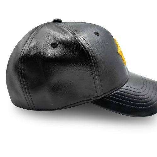 Gold star baseball cap leather Marina Vernicos collection