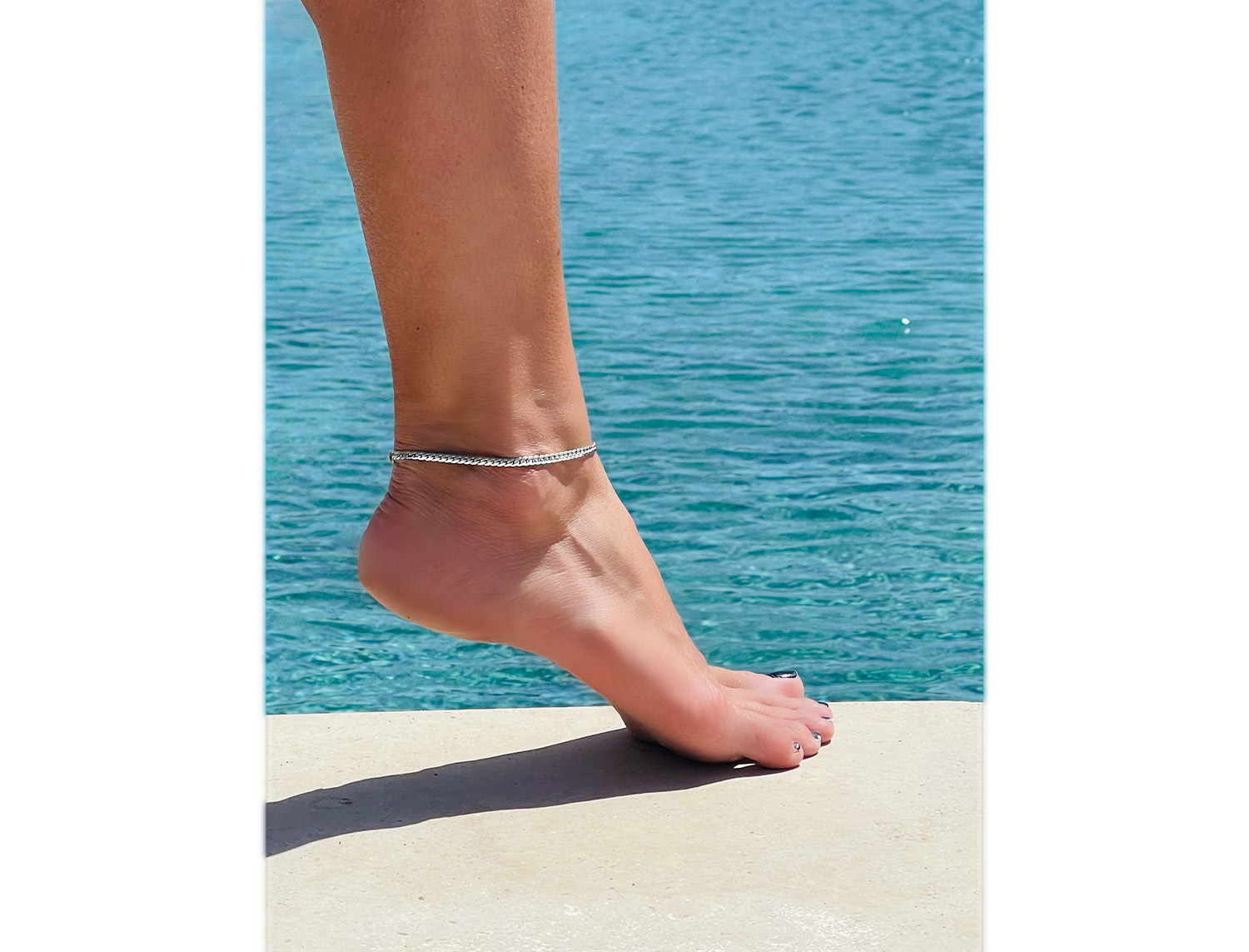 Silver Plated Anklet - Adema