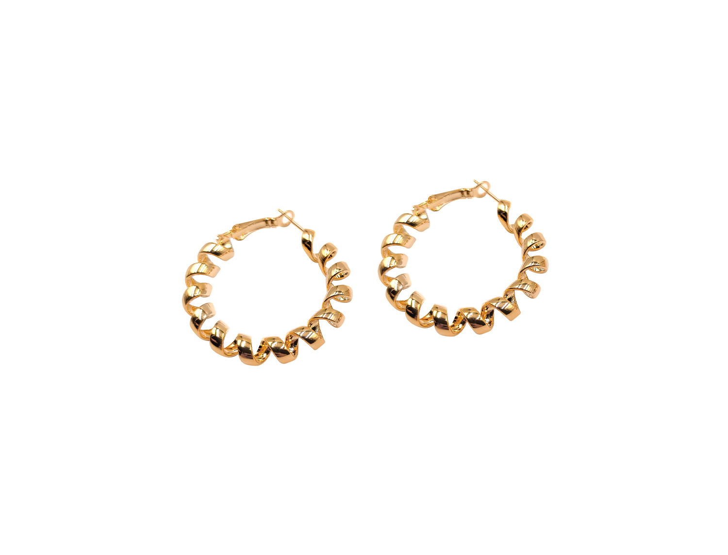 Twisted  Hoops Gold Plated - Adema