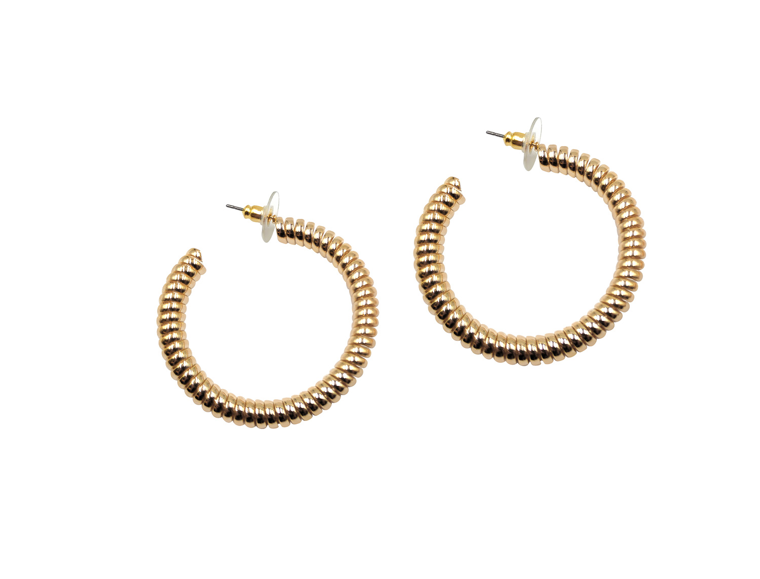 Twisted  Hoops Gold Plated Large - Adema