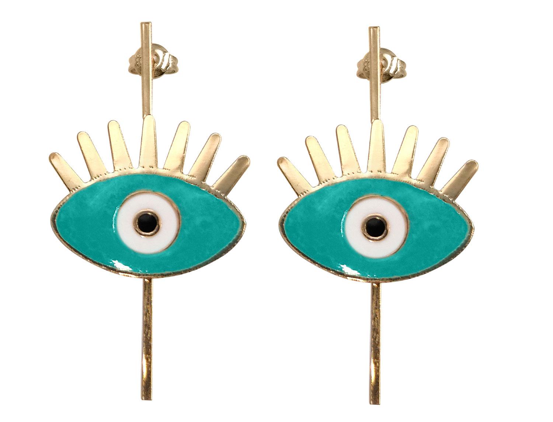 Turquoise Evil eye earring - Adema