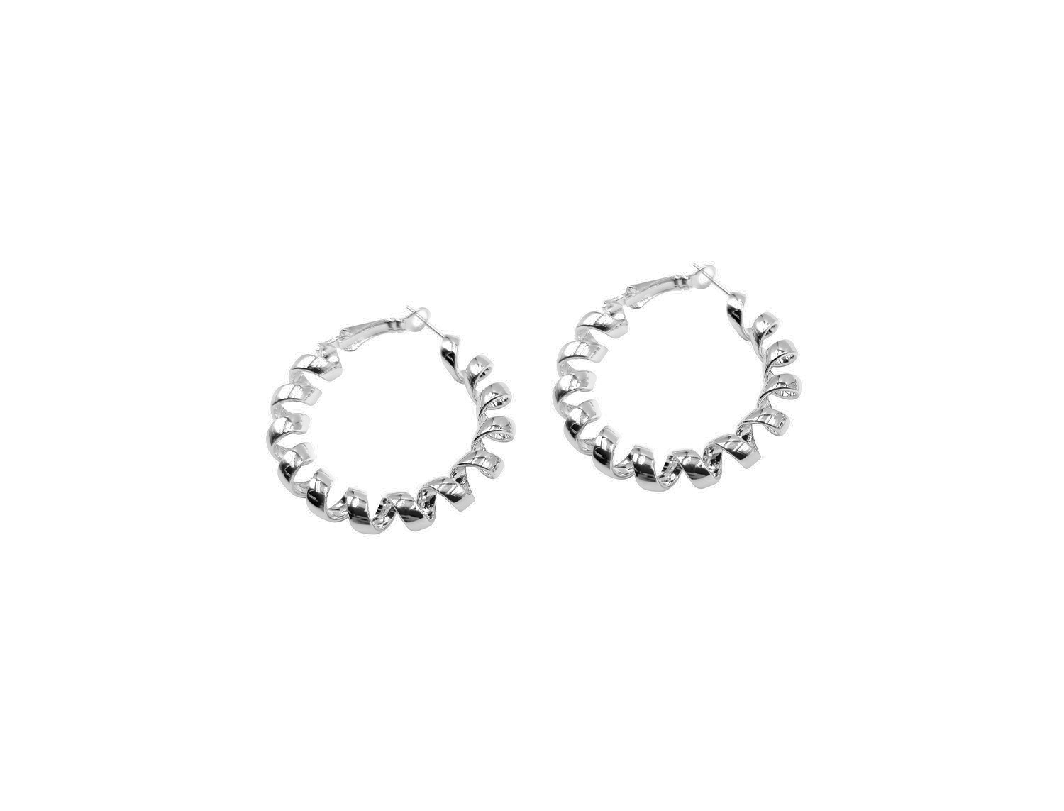 Twisted  Hoops Silver Plated - Adema