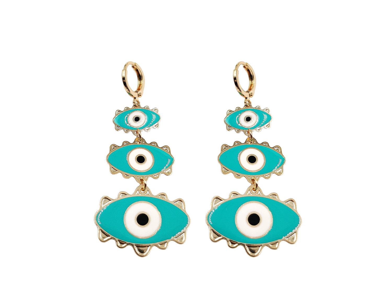 Torques Evil eye drop earring - Adema