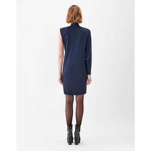ASYMMETRIC JERSEY DRESS BLUE - STELIOS KOYDOUNARIS