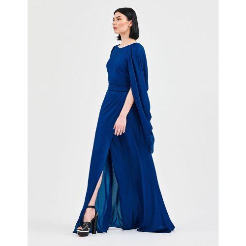 DRAPED BACK DRESS ROYAL BLUE - STELIOS KOUDOUNARIS