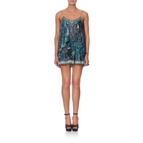 FLARED PLAYSUIT WITH OVERLAYER - Camilla