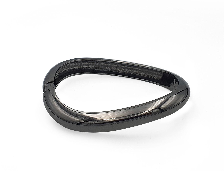 Open Spring Wave Bracelet Black - Adema