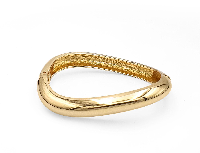 Open Spring Wave Bracelet Gold Plated - Adema