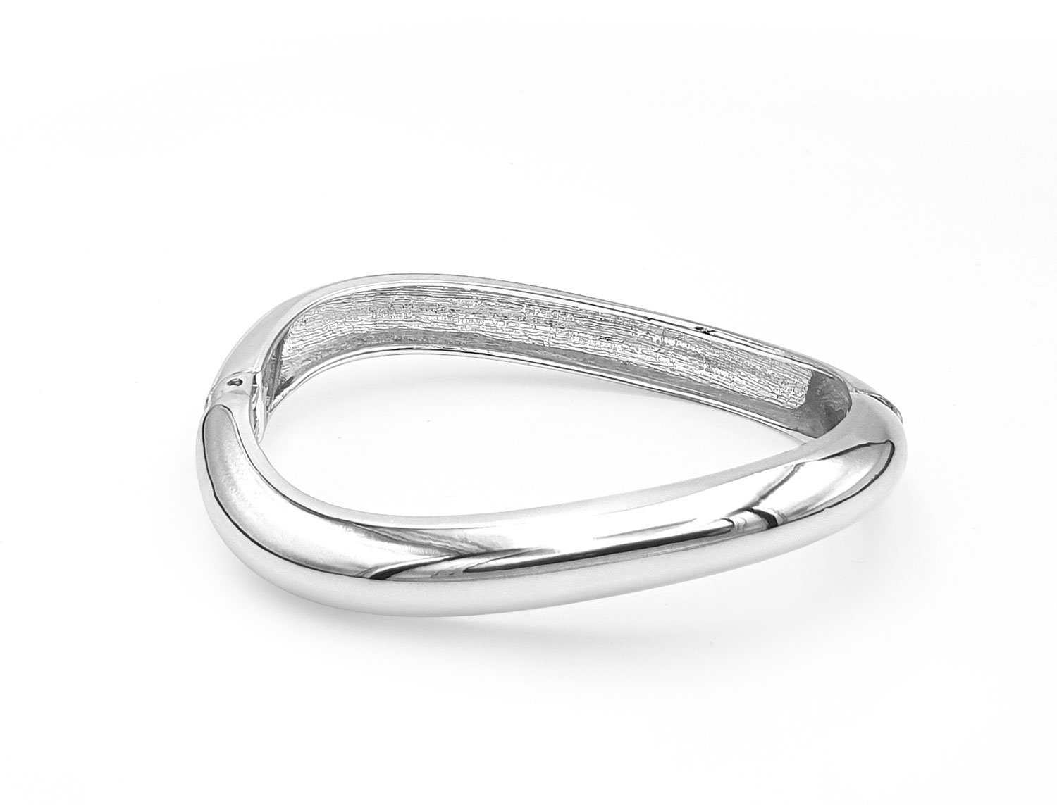 Open Spring Wave Bracelet Silver Plated - Adema