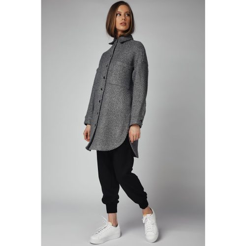 The Knitted Cardigan -GREY