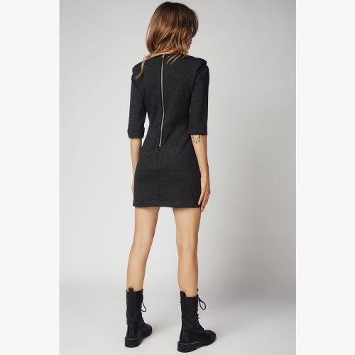 The One Zipper Dress-ANTRACITE - 4Tailors
