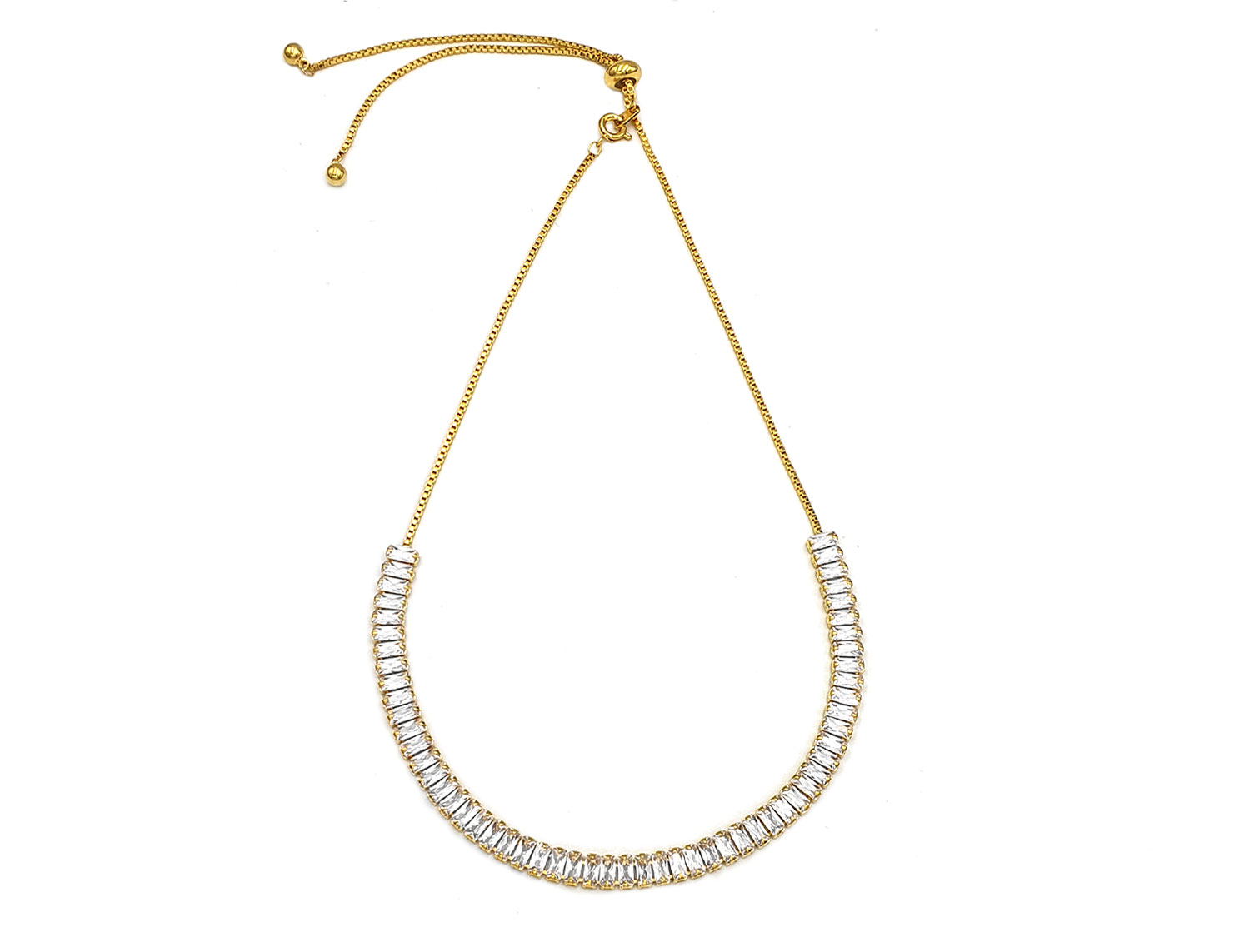 Sparkling Choker Gold Plated - Adema